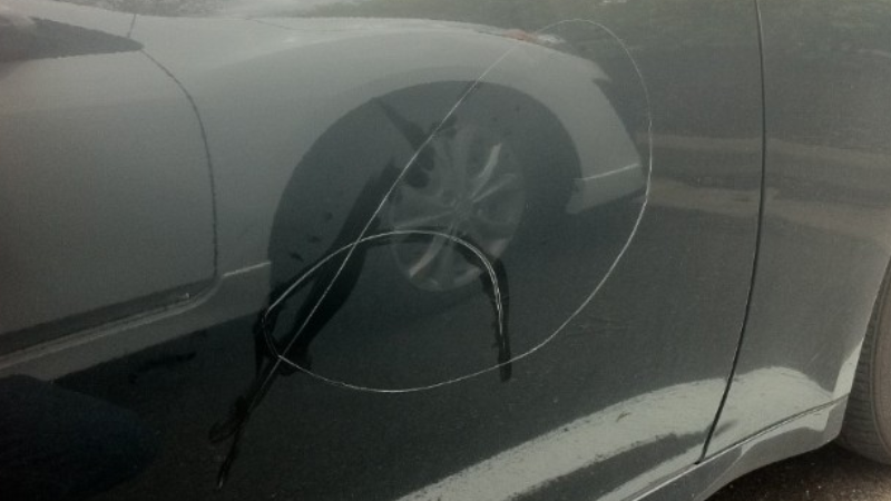 The Case of the Keyed Car